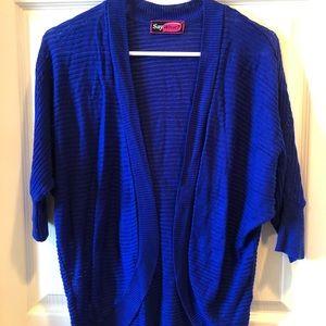 Blue Open Sweater